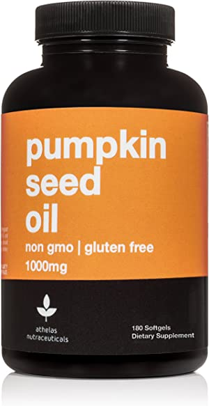 Pumpkin Seed Extract Capsules 1000mg - Non-GMO Premium Cold Pressed Prostate and Urinary Tract Support - Bladder Regulation and Control - Pumpkin Seed Oil Softgels Capsules Supplement - 180 Capsules