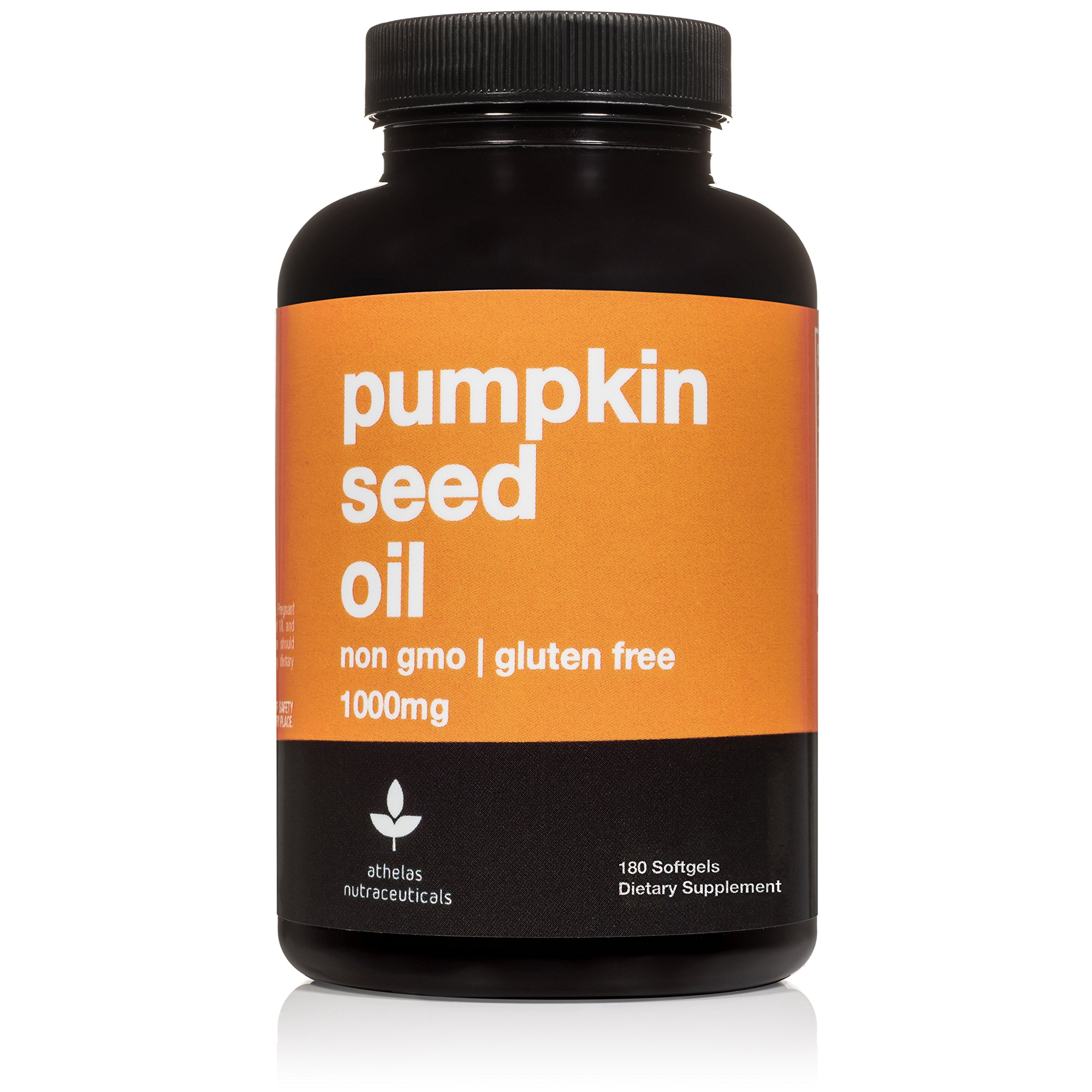 Pumpkin Seed Oil 1000mg - 180 Capsules - Non-GMO Premium Cold Pressed Prostate and Urinary Tract Support - Bladder Regulation and Control - Softgel Capsules Supplement