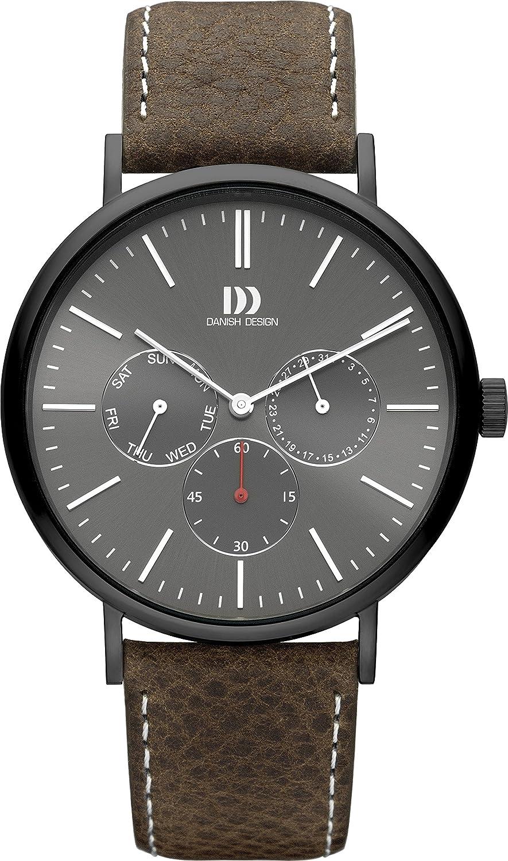 Quarz Analog Armband Uhr Mit Design Leder Iq14q1233 Herren Danish IH2E9D