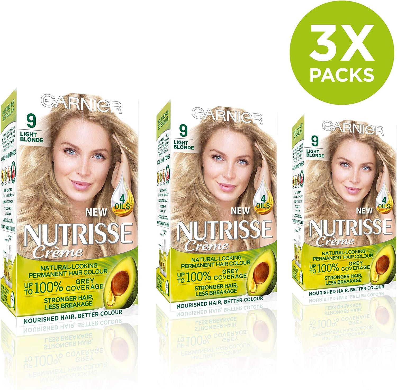 Garnier Nutrisse 9 - Tinte para el cabello permanente, Light ...