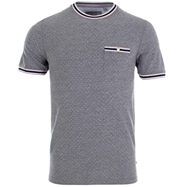 3a4117002983d9 Ted Baker Glaad Mens Grey Marl T Shirt 5  Amazon.co.uk  Clothing