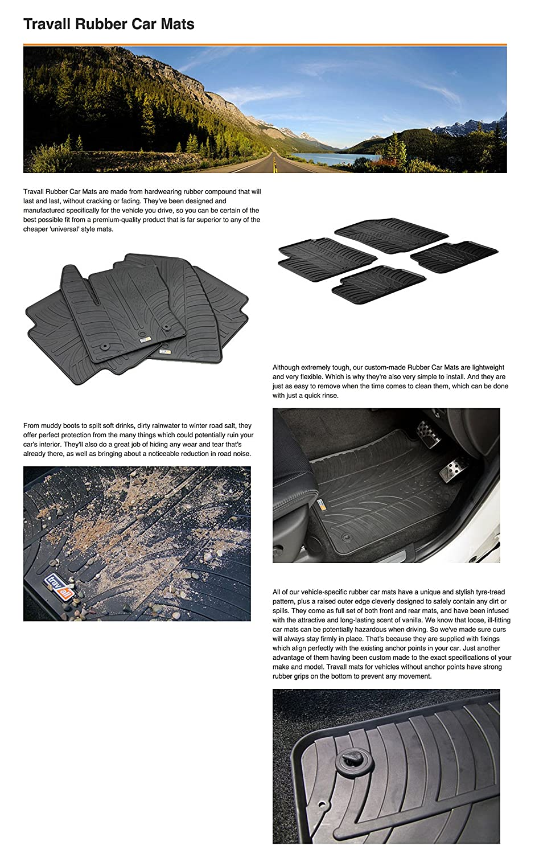 Travall/® Mats TRM1116 Tapis de Sol en Caoutchouc sur Mesure