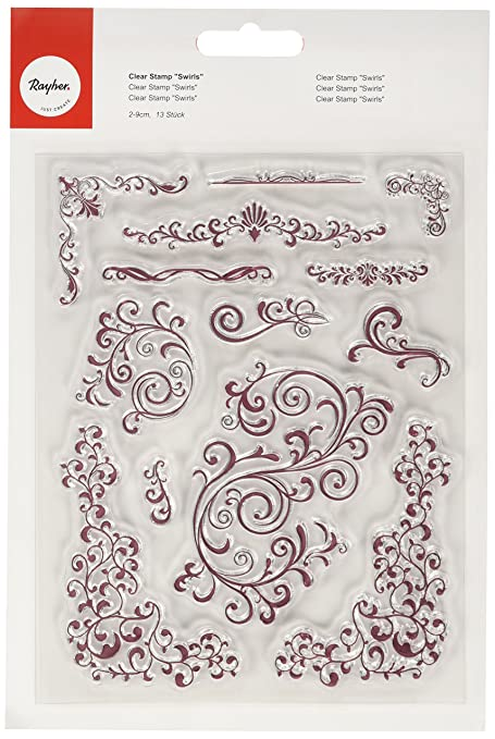 7 opinioni per Rayher 57781000- Timbri decorativi, motivo arabescato, 2-9 cm, 13 pz.