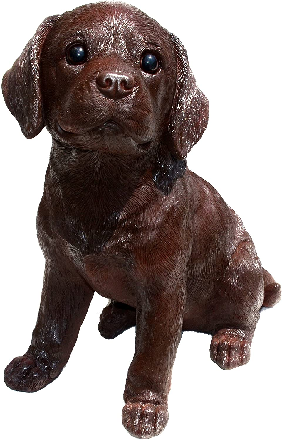 Michael Carr Designs Chocolate Labrador L Fudge Puppy Love Outdoor Dog Figurine for Gardens, patios and lawns (80100)