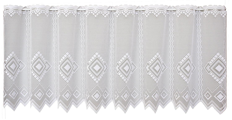 Anna Cortina 882977350x250/White Libby net curtain fabric–50x 250cm White VHG 8829773-50x250-weiß