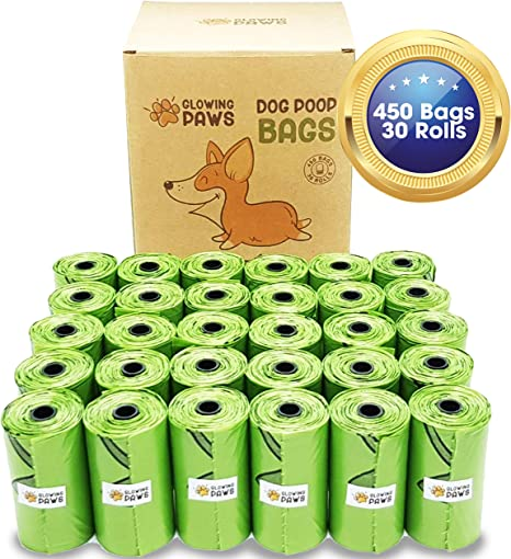 Glowing Paws - Bolsas biodegradables para Caca de Perro, 450 ...