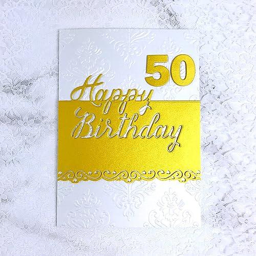 Amazon Handmade 50th Birthday Card Handmade
