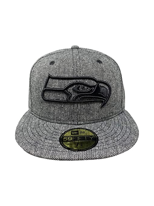 23d0aeac3 Amazon.com : New Era Seattle Seahawks 59Fifty NFL Hat Flat Brim Cap ...