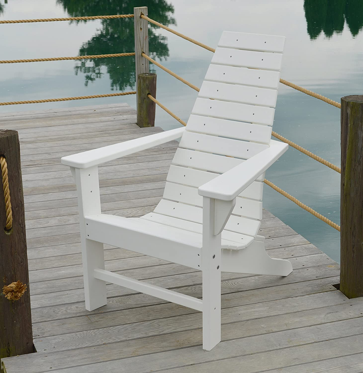 Polywood outdoor chair poly wood chairs contemporary outside furniture modern patio seating all weather solid recycled plastic for deck backyard