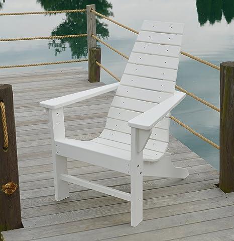 Silla de exterior de madera de polietileno, sillas de madera ...