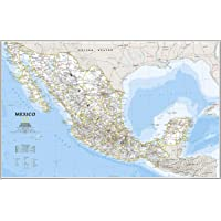 National Geographic: Mexico Classic Wall Map - Laminated (34.5 X 22.5 Inches)
