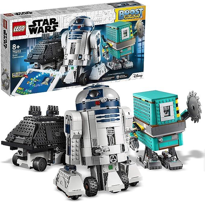 LEGO Star Wars Boost - Comandante Droide, Juguete de Construcción con 3 Robots Controlados por App, con R2-D2, Incluye sensor de distancia, motor y bluetooth, Set robótico programable (75253): Amazon.es: Juguetes y