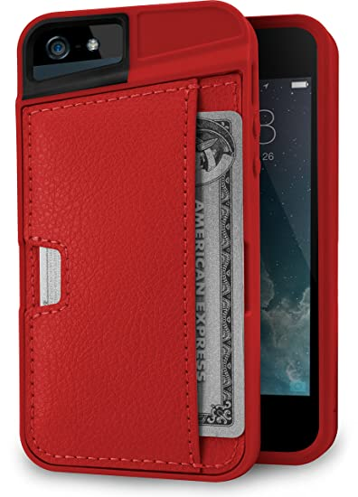quality design 4e976 f4cf4 Silk iPhone SE / 5 / 5s Wallet Case - Wallet Slayer Vol. 2 [Slim Protective  Q Card Case Credit Card Cover] - Red Fabric