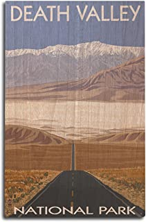 product image for Lantern Press Death Valley National Park, California - Highway View (10x15 Wood Wall Sign, Wall Decor Ready to Hang)