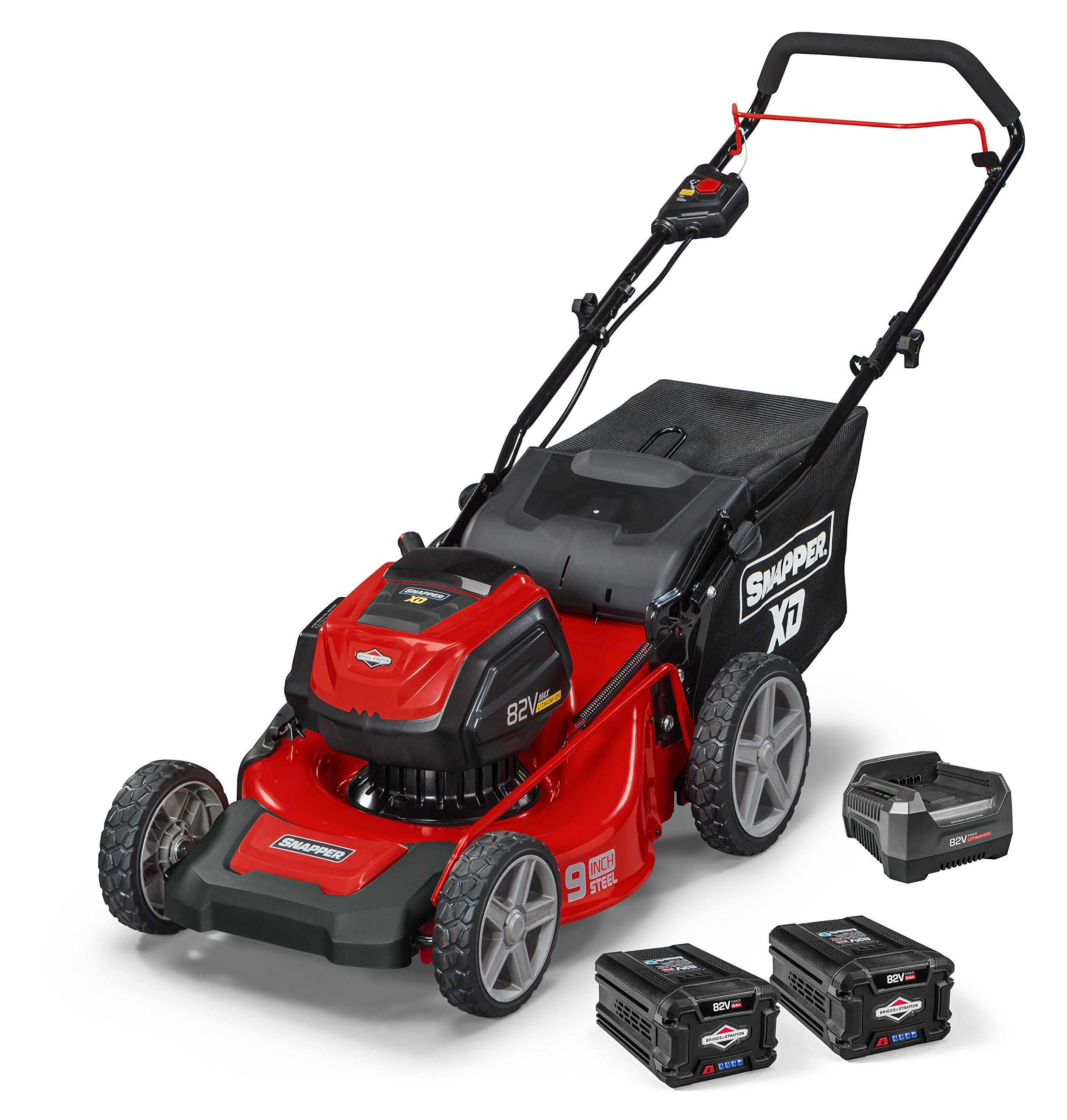 Snapper XD 82V MAX Electric Cordless 19-Inch Lawnmower Kit with (2) 2.0 Batteries & (1) Rapid Charger, 1687915, SXD19PWM82K by Snapper