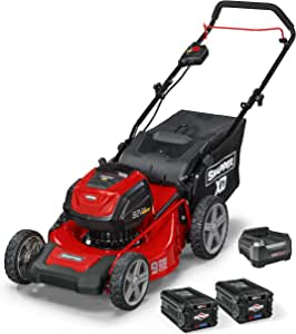 """Snapper XD 82V MAX Cordless Electric 19"""" Push Lawn Mower, Includes Kit of 2 2.0 Batteries and Rapid Charger"""