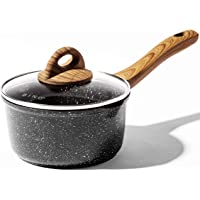BINO Cookware Nonstick Saucepan with Lid, 1.5 Quart - Speckled Black | THE CLASSIC COLLECTION | Premium Quality Nonstick…