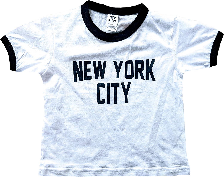 New York City Toddler John Lennon Ringer NYC Baby Tee Beatles T-Shirt White