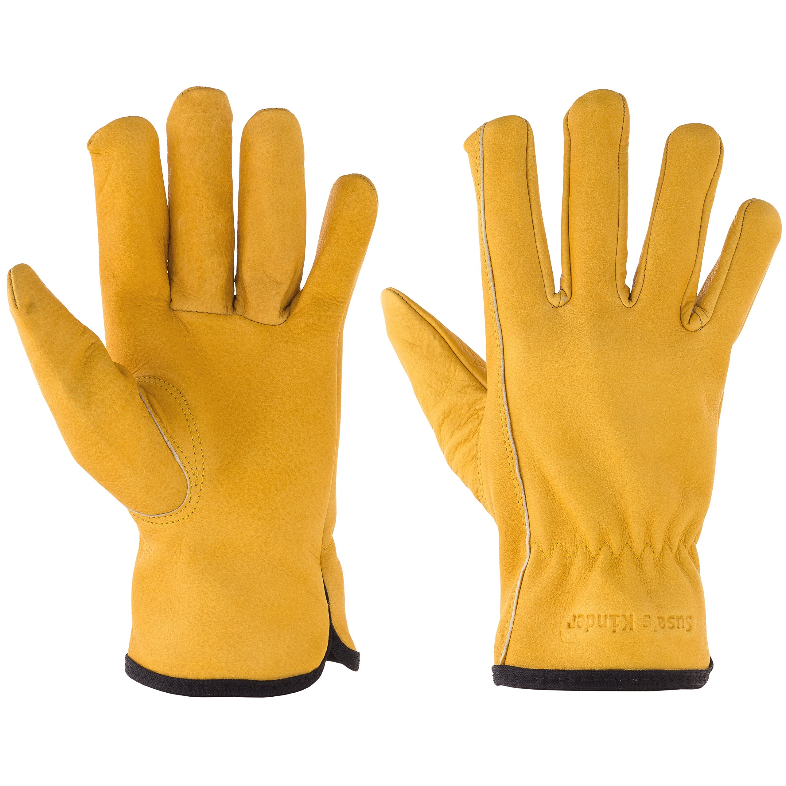 Kids Work Gloves, Garden Gloves for Children, Top Grain Leather, Play, Chore Size (Small Ages 3-5)