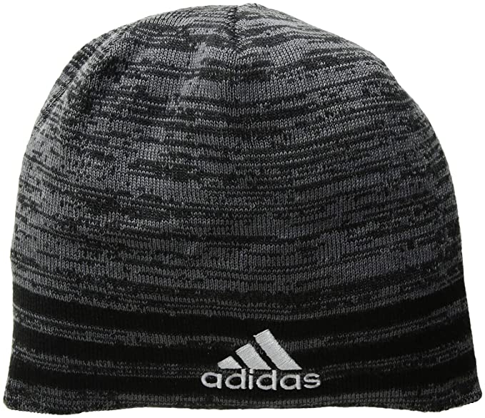 88b9f306 Amazon.com: adidas Men's Eclipse Reversible Beanie, Black/Onix Marl/Black/Grey/Onix,  One Size: Clothing