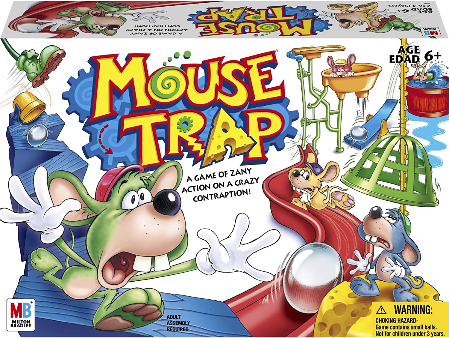 B00000DMFD Hasbro Gaming Mouse Trap Board Game For Kids Ages 6 and Up (Amazon Exclusive) 91zpYBwMRVL