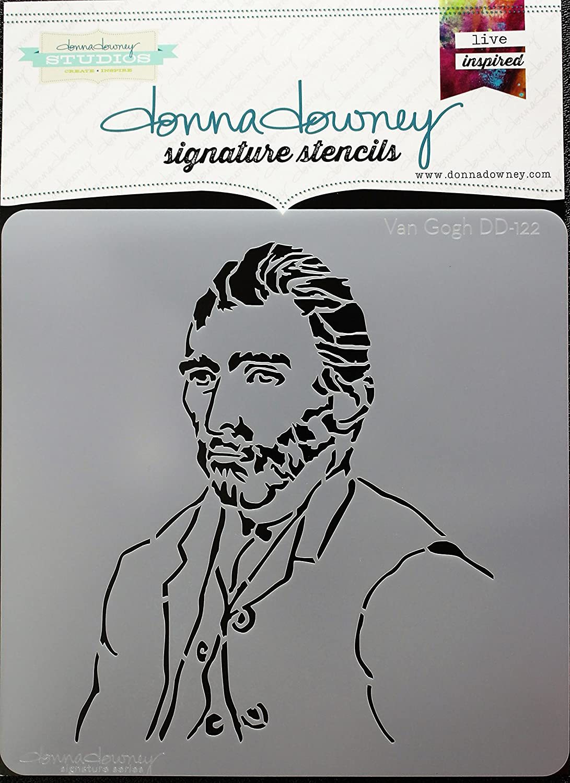Donna Downey Stencils DD-122 Signature 8.5X8.5-Van Gogh