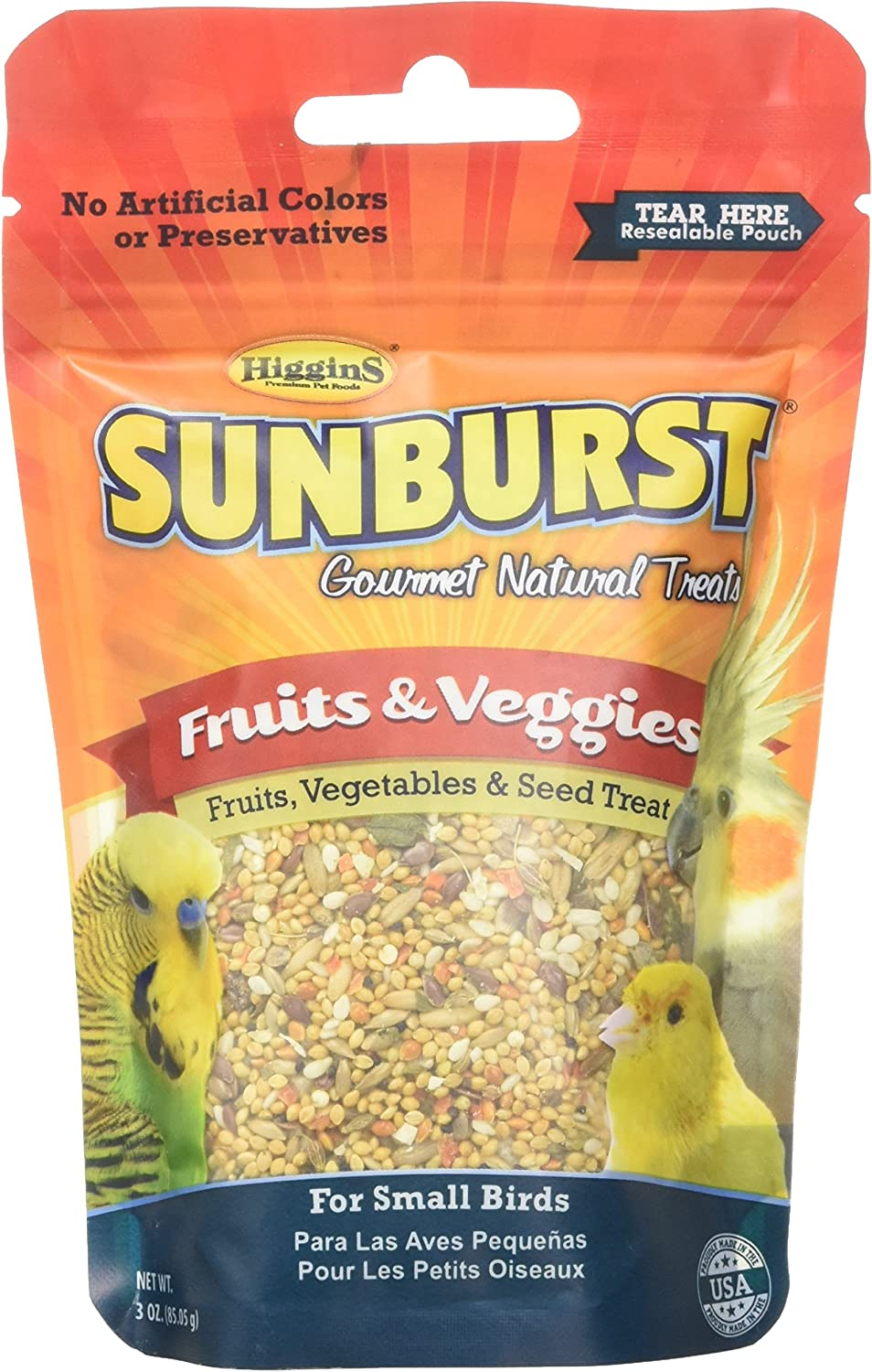 Higgins Group 466017 Sunburst Fruit/Vegetable Small 3 oz Treat, 1Count, One Size