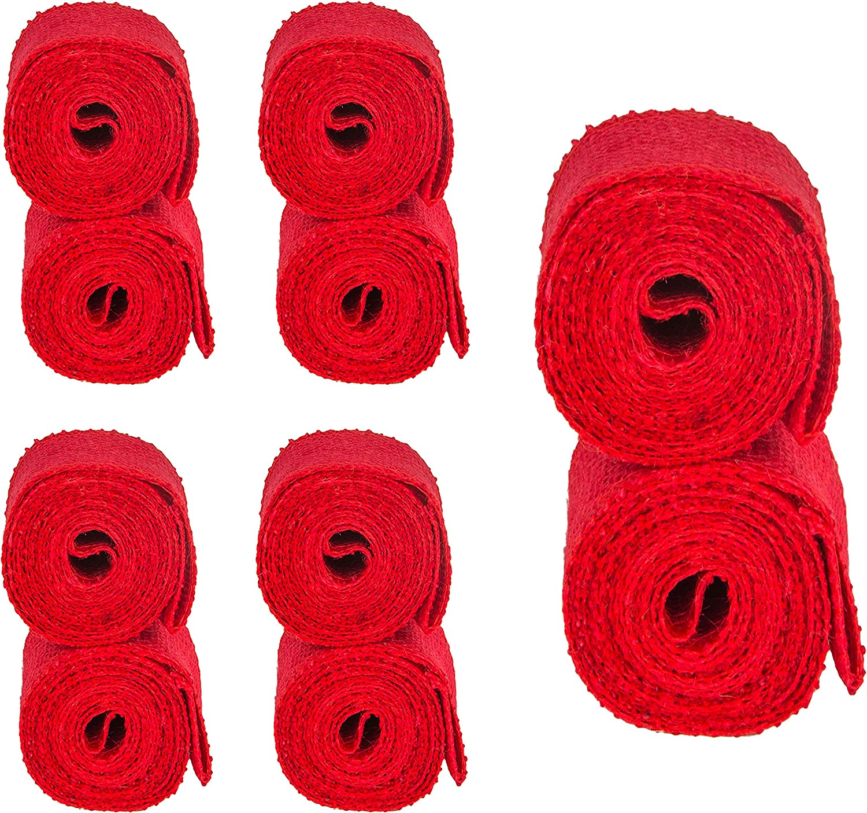 BlueFox Geschenkband Jute f/ür Pr/äsente I Band breit I Ribbon 2,1m x 5cm I Stoffband I Schleifenband I Dekoband zum Basteln I Juteband I Wickelstreifen in rot
