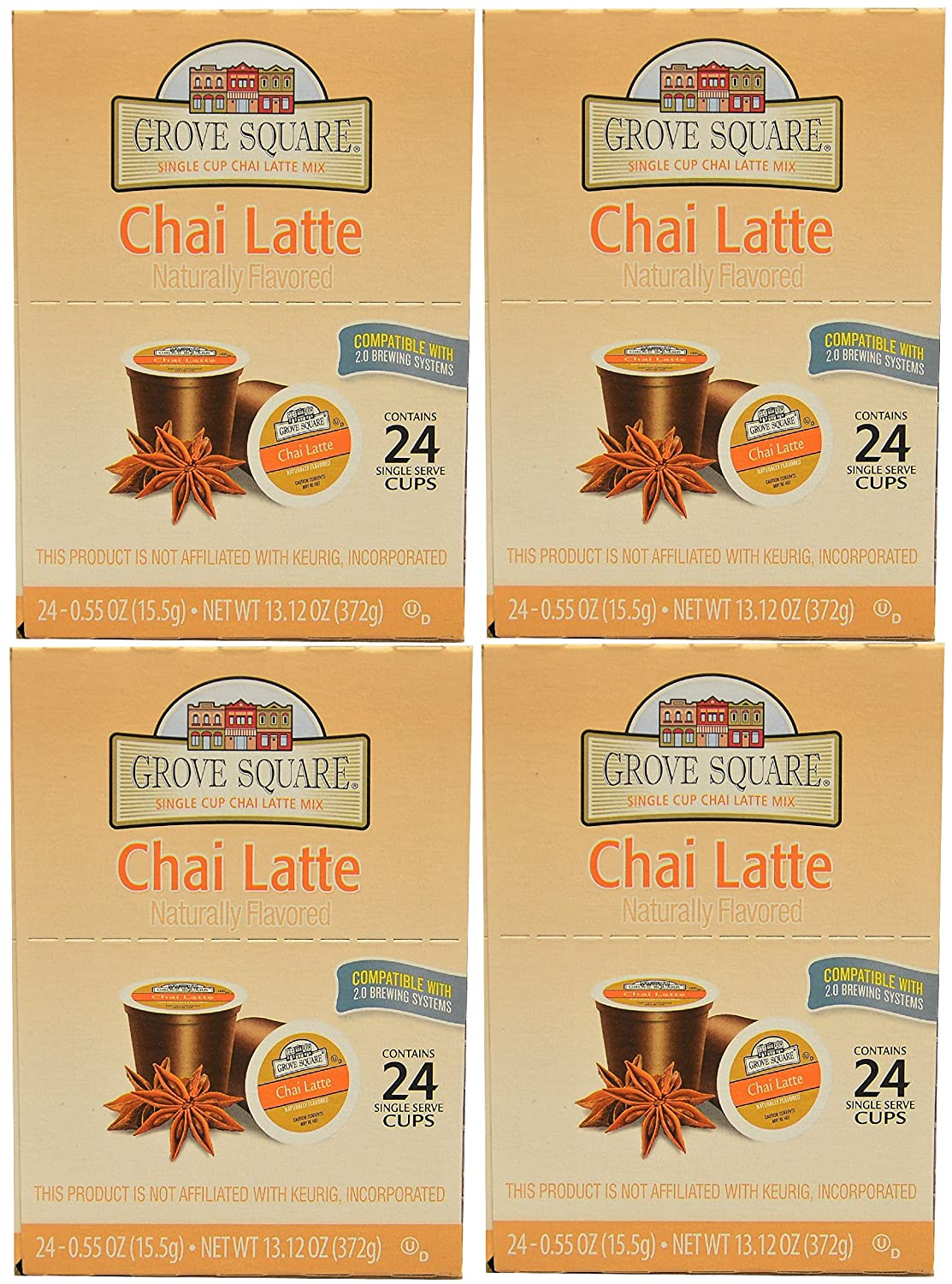 Grove Square Chai Latte, 96-count Single Serve Cup for Keurig K-cup Brewers
