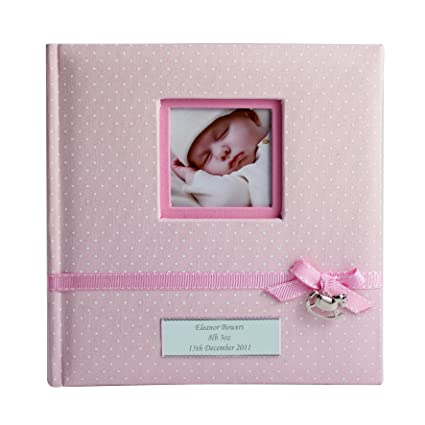 2dfd7aeeb8d0 Personalised Pink Polka Dot Photo Album - Christening Gift Girl Baby ...