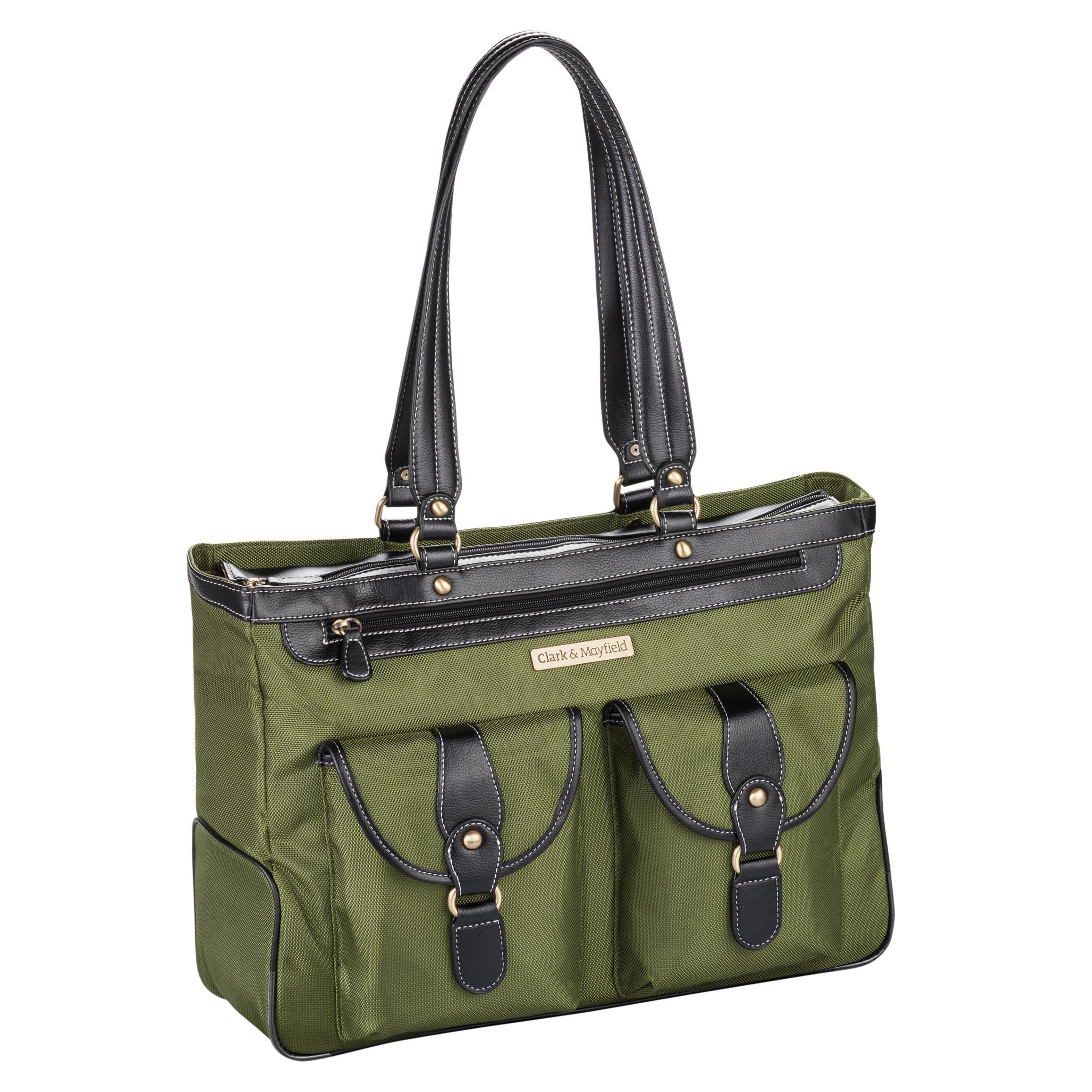 Clark & Mayfield Marquam Laptop Handbag 18.4'' (Pesto Green) by Clark & Mayfield