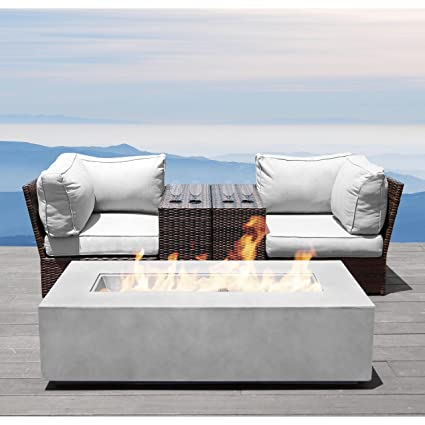 Surprising Fire Pit Set Century Modern Outdoor Lucca Collection Wicker Patio Resort Grade Furniture Sofa Set With Fireseat Cup Table And Back Cushions No Onthecornerstone Fun Painted Chair Ideas Images Onthecornerstoneorg