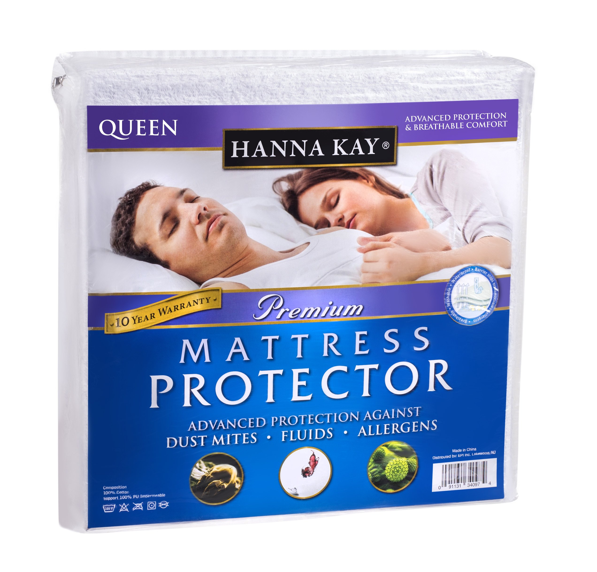 waterproof mattress queen size protector bed topper cover pad cotton memory foam ebay. Black Bedroom Furniture Sets. Home Design Ideas