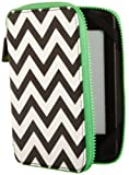 PUNCHCASE By Leslie Hsu Ace Zip Around Cover, Black/White Chevron (fits Kindle, Paperwhite, and Touch)