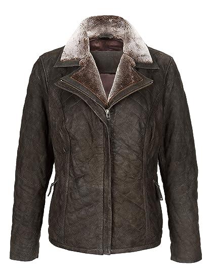 MONA Damen Lederjacke aus 100% Lammnappa: : Bekleidung