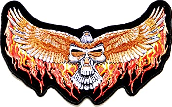 Iron//Sew on Biker Patch No165 Winged Golden Eagle
