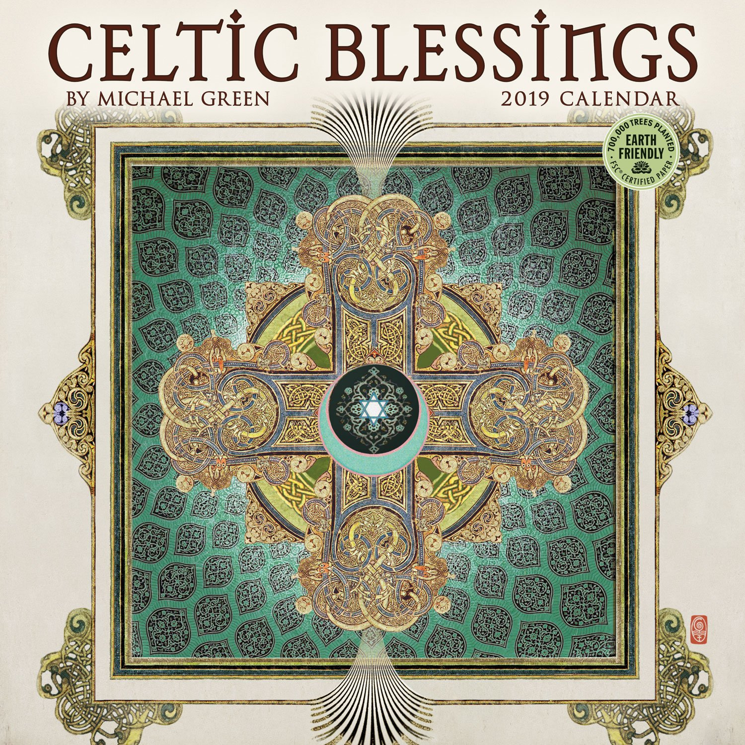 celtic blessings 2019 wall calendar illuminations by michael green