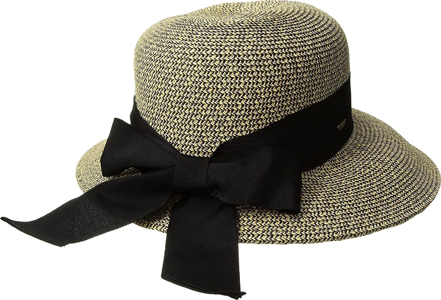 208cfbe849a3a SCALA Women s Paper Braid Dimensional Brim Coffee One Size at Amazon Women s  Clothing store