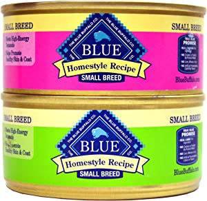 Blue Buffalo Homestyle Recipe Canned Dog Food Variety Bundle - 2 Flavors (Lamb Dinner with Garden Vegetables and Brown Rice, and Chicken Dinner with Garden Vegetable and Brown Rice) - 5.5 Ounces Each (12 Total Cans - 6 of Each Flavor)