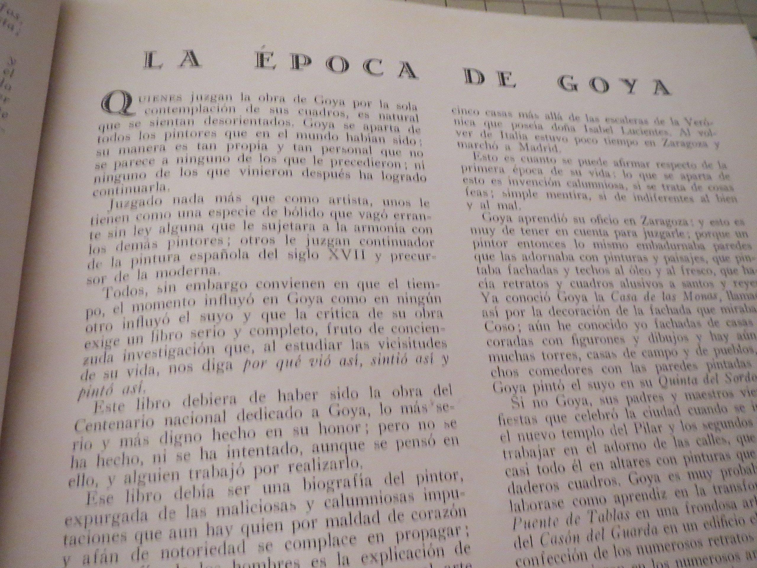 Aragon:Revista Grafica De Cultura Aragonesa - A Goya, En El Primer Centenario De Su Muerte - The Centennial of Francisco De Goya Death - Spanish Edition: ...