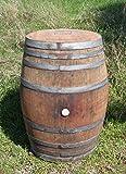 Regentonne, Holzfass, Weinfass Barrique, Temesso-Fass aus Eiche, Eichenholz -300 Liter (Fass geöffnet mit Deckel)