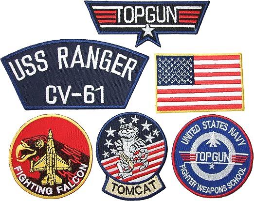 Parches bordados para la ropa, diseño de Maverick Top Gun, 6 ...