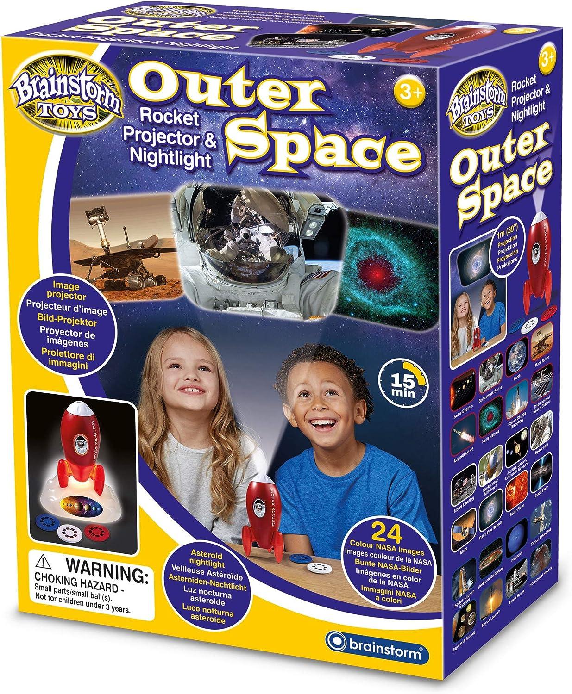 Brainstorm Toys E2063 Proyector de Cohete y luz Nocturna para el ...
