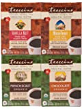 Teeccino Coffee Variety Pack (Vanilla Nut, Hazelnut, Chocolaté, French Roast) Chicory Herbal Tea Bags, Caffeine Free, Acid Free, 10 Count (Pack of 4)