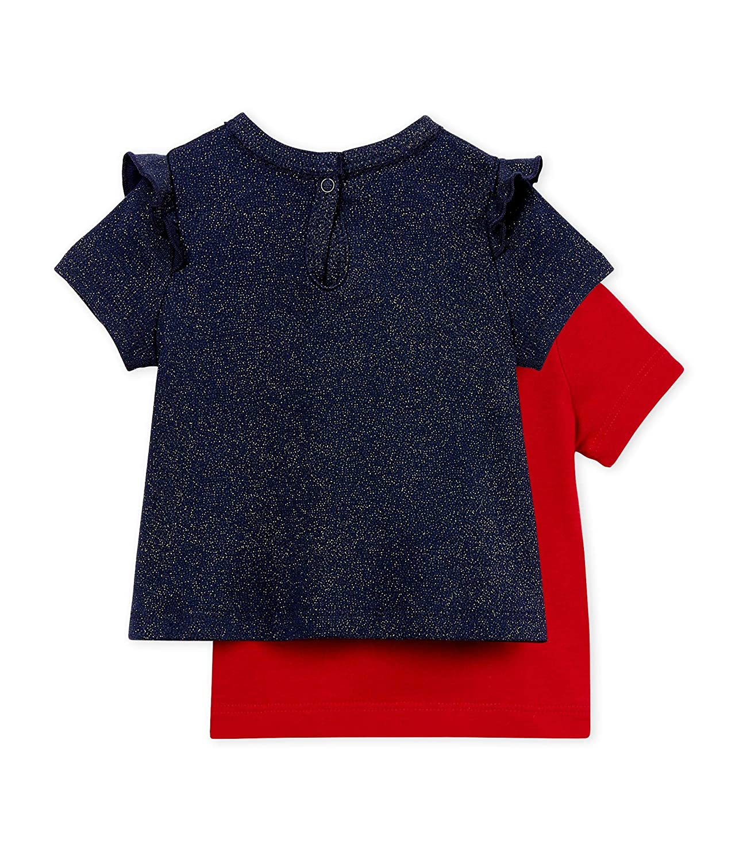 Petit Bateau T-Shirt Bimba Pacco da 2