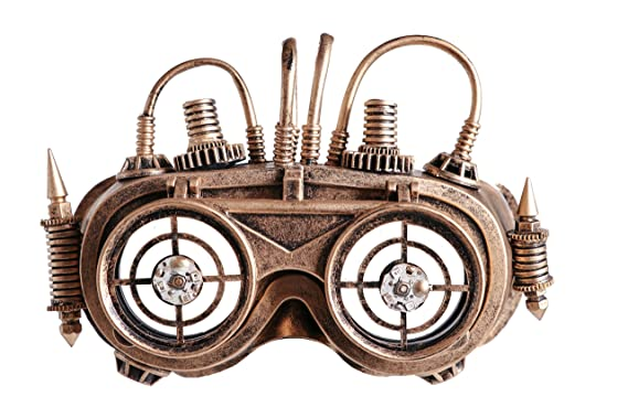 57f53ed425d Image Unavailable. Image not available for. Color  Arsimus Steampunk Copper  Victorian Binoculars Goggles ...