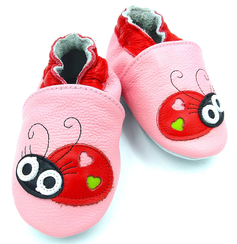 BizTech Chaussures b/éb/é en Cuir v/éritable Souple pour b/éb/é 0-6 6-12 12-18 18-24 Mois Int/érieur et ext/érieur