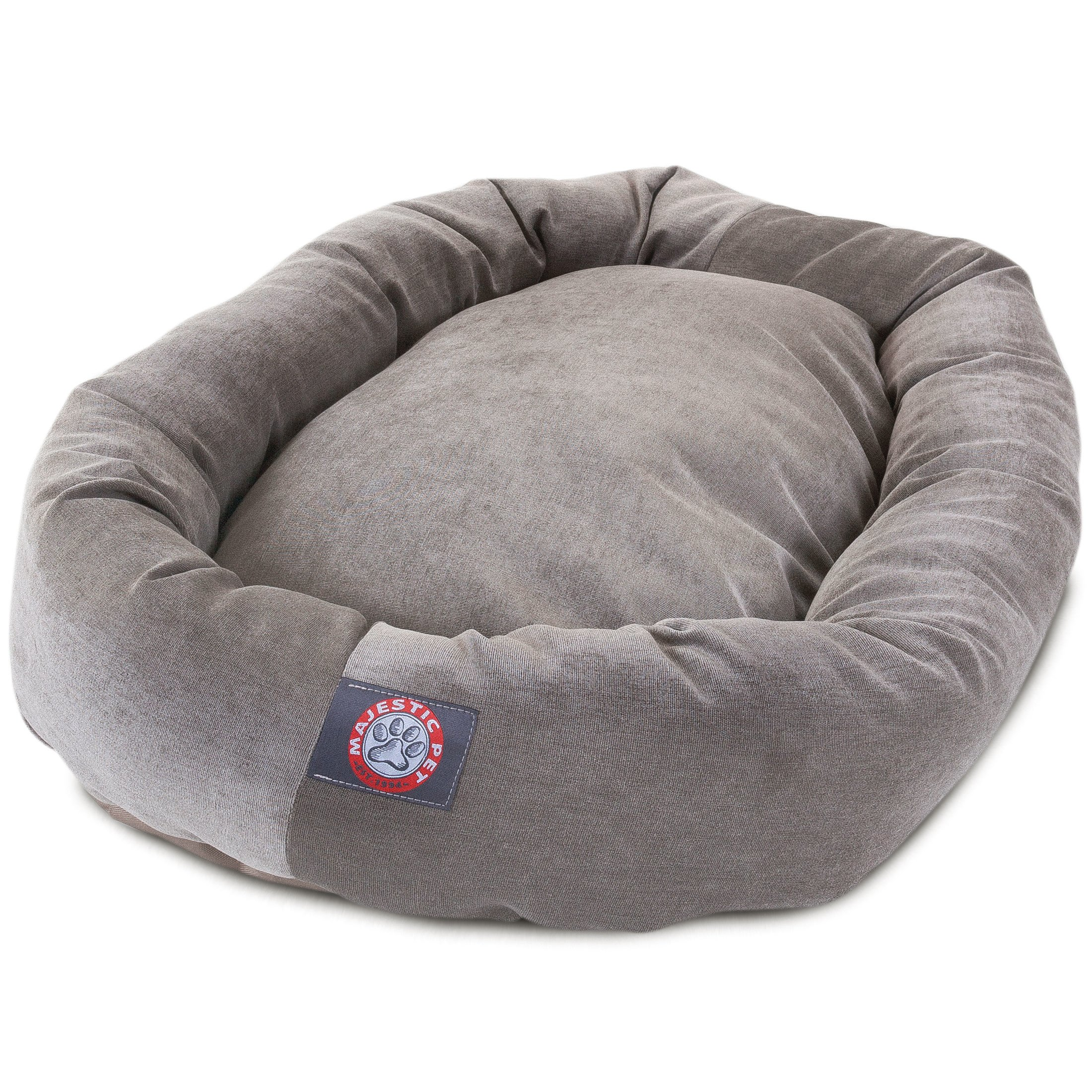 52 inch Vintage Villa Collection Micro Velvet Bagel Dog Bed By Majestic Pet Products by Majestic Pet (Image #2)