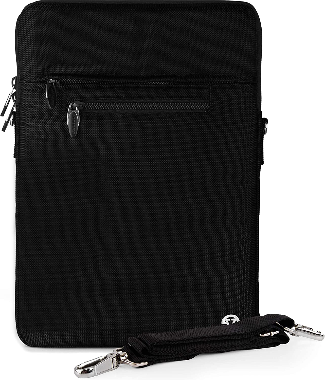 Slim 13-inch Vertical Sling Laptop Sleeve Bag fit for Dell Inspiron 14 7000 7405 7490 5406 5400, Latitude 14 3410 5410 7480 (Black)