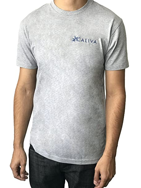Amazon com: Caliva Palm Logo Men's Tee (Grey) (XL): Clothing